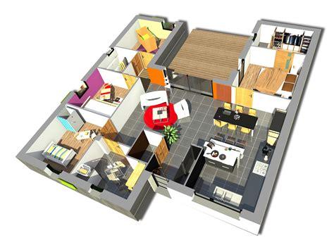 plan maison en l 4 chambres plan maison 4 chambres maison moderne