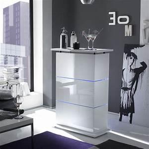 Bar De Salon Moderne : meuble bar blanc laqu design bar lumineux tr s tendance ~ Teatrodelosmanantiales.com Idées de Décoration