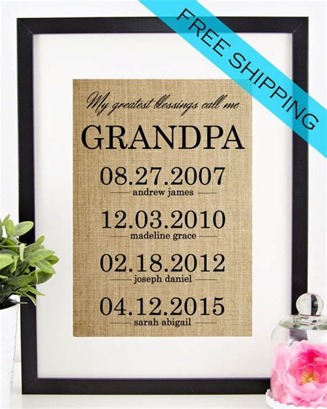 personalized fathers day gift  grandfather grandpa