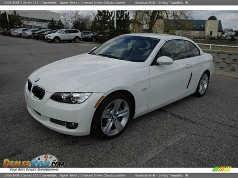 2009 Bmw 335i Convertible by 2009 Bmw 3 Series 335i Convertible Alpine White Chestnut