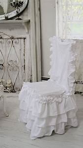 Shabby Chic Stühle : shabby chic style chair slipcover shabby ~ Orissabook.com Haus und Dekorationen