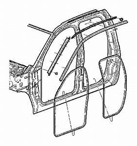 Dodge Ram 1500 Weatherstrip  Door Belt  Right  Weatherstrips  Cab  Front