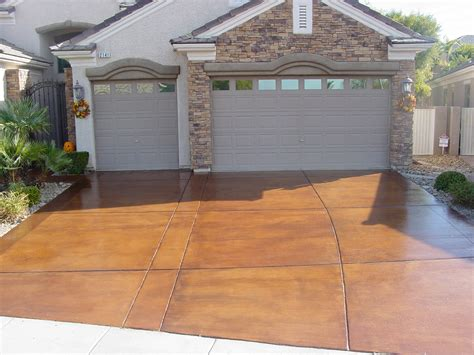stained driveway ideas decorative concrete driveways concrete texturingconcrete texturing