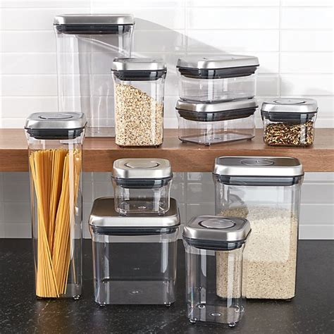 Oxo Spice Rack by Oxo 174 Steel Pop Containers Set Of 10 Crate And Barrel