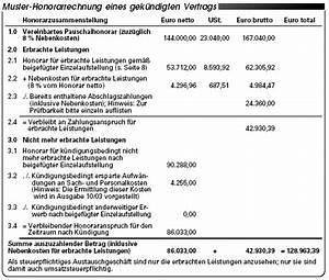 Rechnung Honorar Vorlage : vorzeitige vertragsk ndigung teil ii so rechnen sie ~ Themetempest.com Abrechnung