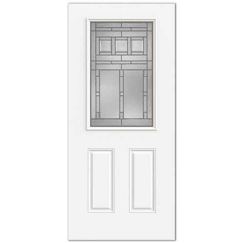 lowes craftsman door reliabilt craftsman patina half lite steel entry door