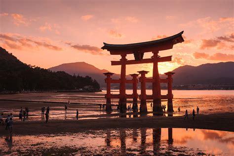 visit spots  miyajima japans island  gods