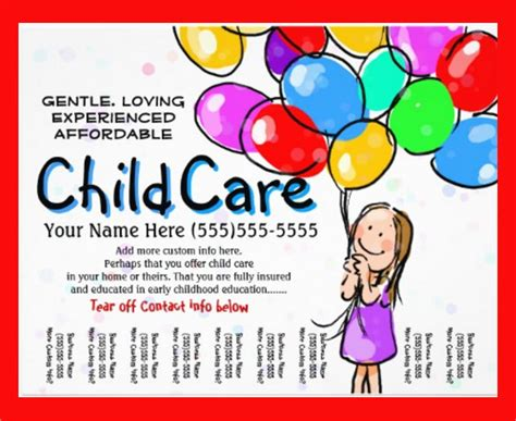 Daycare Flyers Templates Free daycare flyer template 20 free documents in