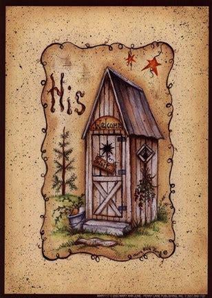 outhouse fine art print  mary ann june