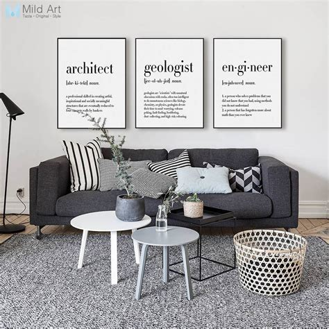 minimalist black white occupation quotes posters prints