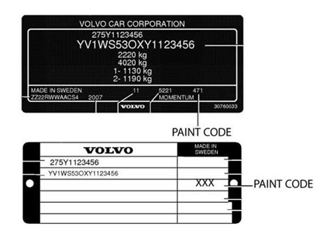 paint code volvo s40 volvo touch up paint stick