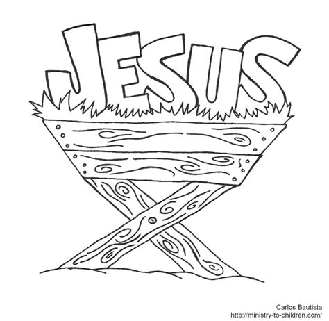 Jesus Manger Or Crib Coloring Pages Holidays And Observances