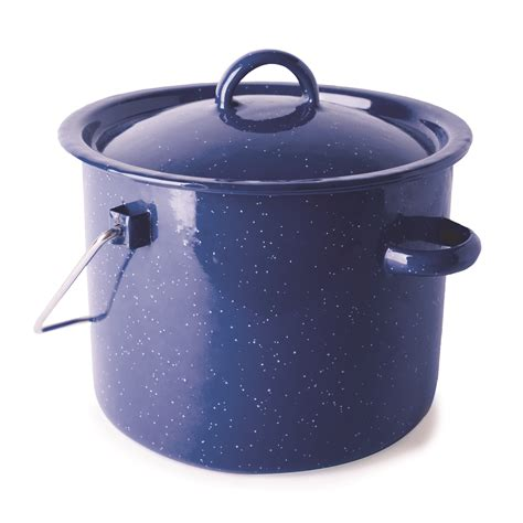 stansport enamel pot pots camping pans cooking camp