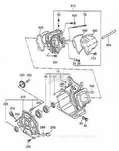 Robin  Subaru Ex27 Rev 09  08  Parts Diagram For Crankcase