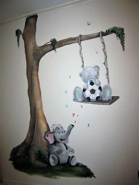 babykamer decoratie muur muurschildering babykamer kinderkamer baby schildering