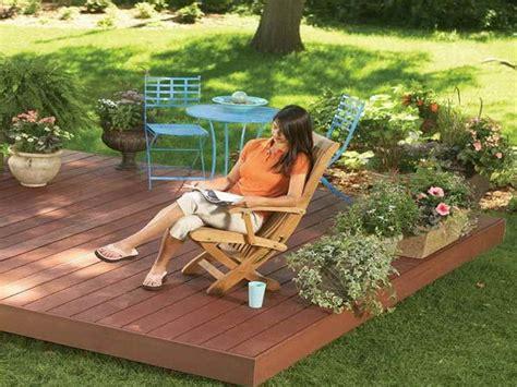 backyard floating deck plans outdoor inspiration