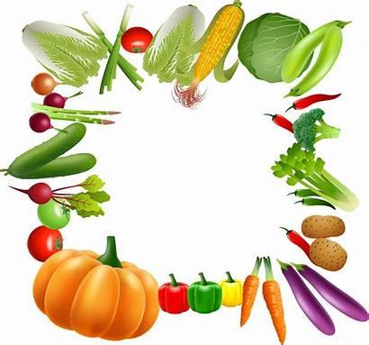 Clipart Vegetables Vegetable Border Fruit Borders Transparent