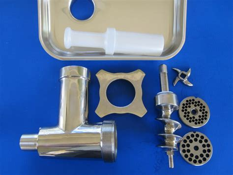 stainless steel meat grinder attachment  hobart