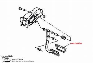 1987 Corvette Brake Pedal Parts