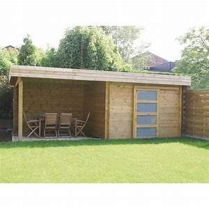 Abri De Jardin Avec Pergola : cabane de jardin a toit plat les cabanes de jardin abri ~ Dailycaller-alerts.com Idées de Décoration