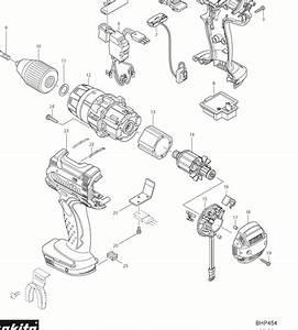 Makita Bhp454 Parts  2