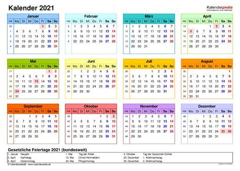 Dabei können sie gemäß ihren ansprüchen eine darstellung als jahreskalender, als halbjahreskalender, als quartalskalender oder als monatskalender wählen. Kalenderpedia Pdf Jahreskalender 2021 Zum Ausdrucken ...
