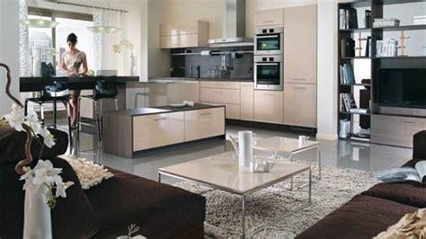 deco salon et cuisine ouverte idée déco pour cuisine ouverte salon cuisine en image