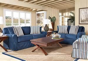 cindy crawford beachside blue 7pc classic living room