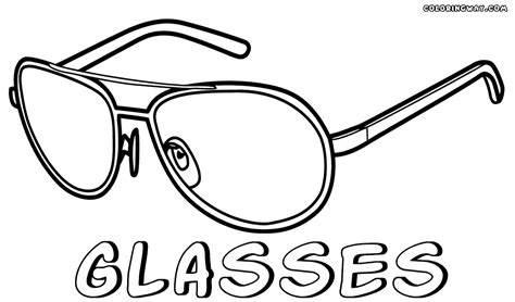 Sunglasses Coloring Pages Sketch Coloring Page