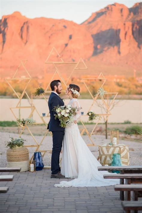 trendy geometric wedding decor ideas weddingomania