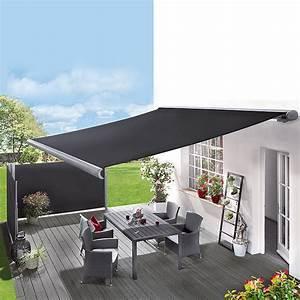 Sunfun vollkassettenmarkise anthrazit breite 5 m for Markise balkon mit tapeten fliesen küche