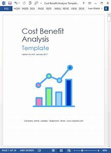 Cost Proposal Template Word Cost Benefit Analysis Template Ms Word Excel Templates