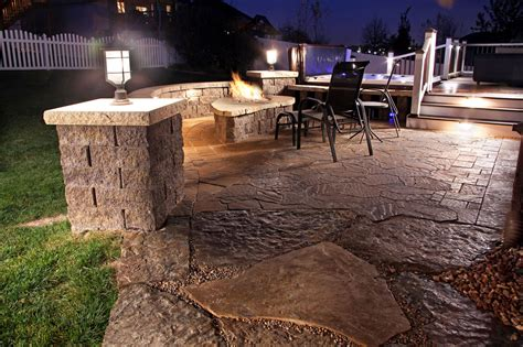 landscape lighting ideas outdoor backyard lounge area with