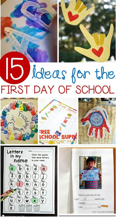 awesome day of school activities for kindergarten 516 | first day of school ideas