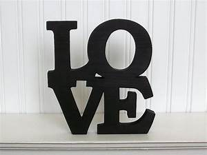 love square wood sign love word sign black love letter sign With black letter sign