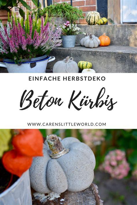 Kuerbis Dekorationsideenhalloween Kuerbis Deko by Beton K 252 Rbis Deko Garten Pumpkin Decorating Pumpkin