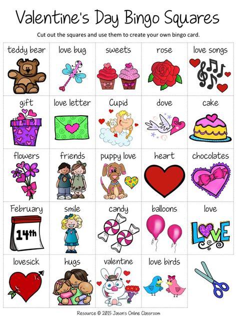 valentines day bingo valentines day words valentine