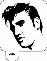 Elvis Presley Stencil Hair Stencils Mr Silhouettes Silhouette Face Celebrity Cut Template Tattoo Sideburns Pages Elvira Vinyl Vector Coloring Pumpkin sketch template