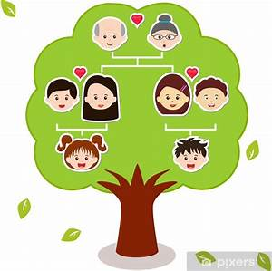Vector Icons  Family Tree  A Diagram On A Genealogical