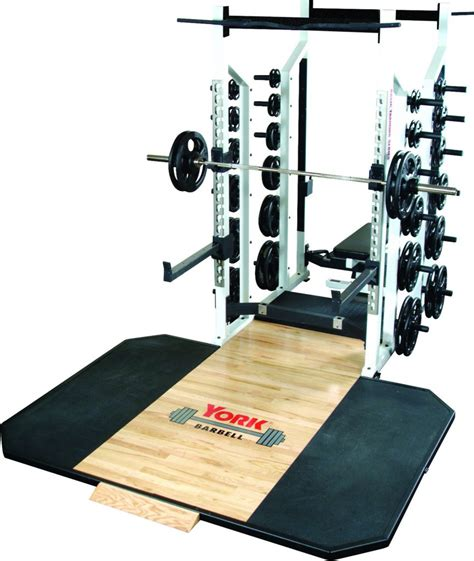 sts double  rack york barbell