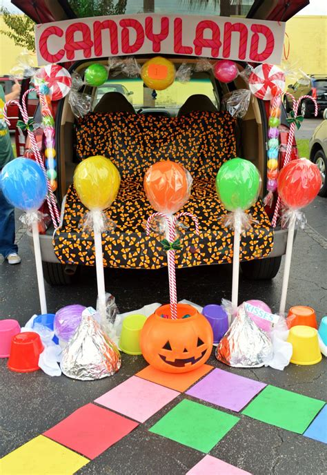 candyland trunk  treat wwwbelleeventplanningcom