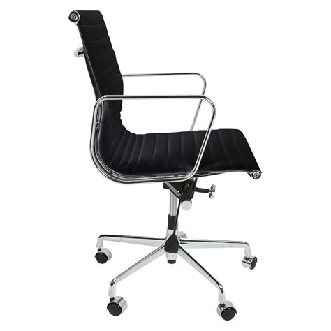 eames inspired black back style ribbed office chair