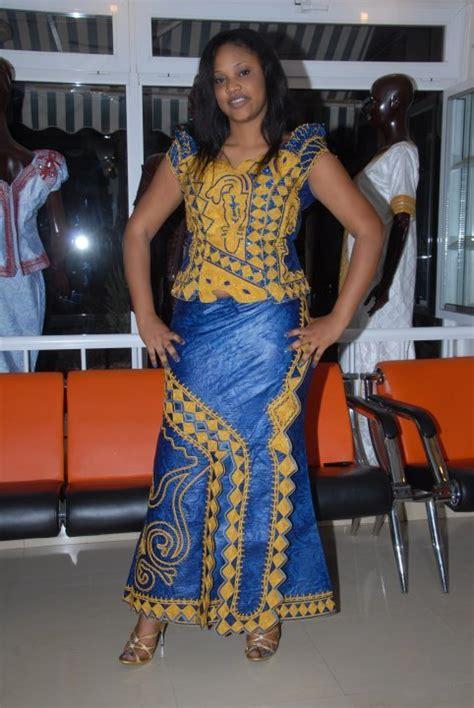 blue african brocade top  skirt set  embroidery