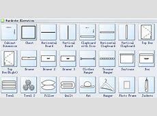 Wardrobe Plan Symbols