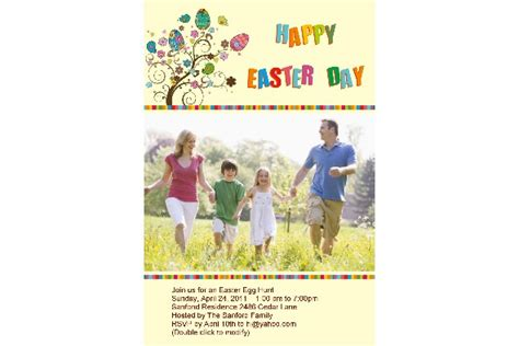 photo templates easter day invitation