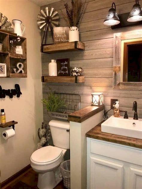73 awesome farmhouse rustic master bathroom remodel ideas