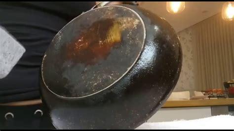 clean frying pan bottom  sag magic stone youtube