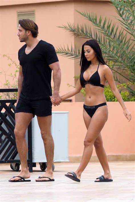 yazmin oukhellou rocks a black calvin klein bikini as ...