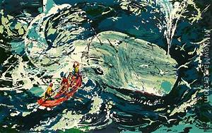 leroy neiman Blue Whale Moby Dick Suite Painting