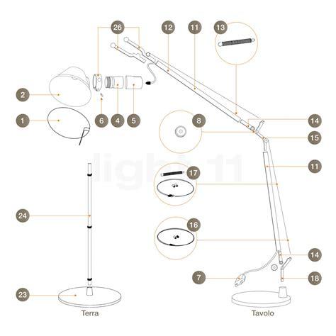 Tizio L Led Bulb by Artemide Spare Parts For Tolomeo Tavolo And Tolomeo Terra Alu